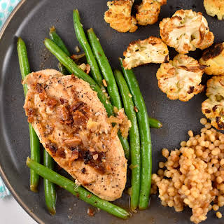 One Pan Chicken, Green Beans, and Bacon.