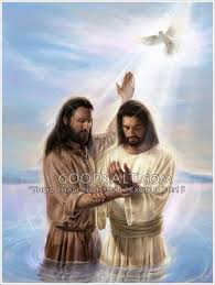 Image result for john baptized jesus with a dove