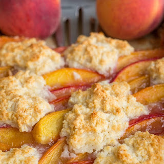 Ginger Peach Cobbler Bars