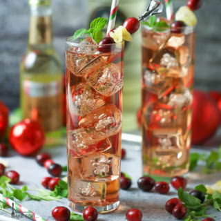 Cranberry Ginger Fizz Cocktail.