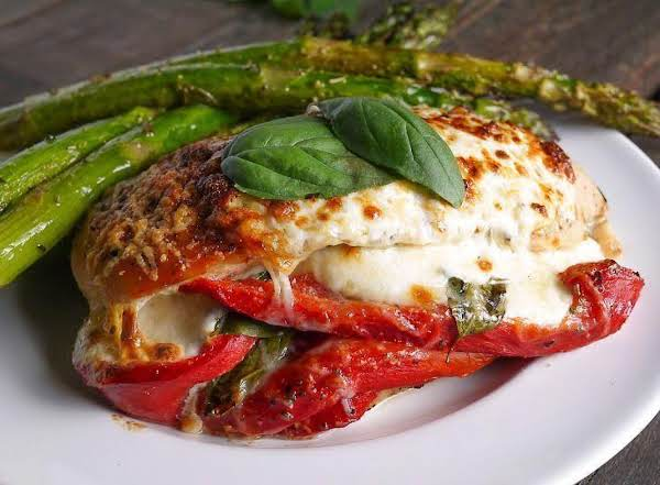 Mozzarella And Basil Stuffed Chicken