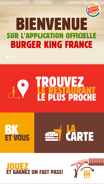 Burger King® France – pour les amoureux du burger Android App Screenshot