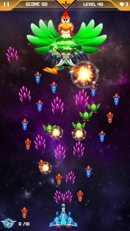 Chicken Shooter : Space Attack APK