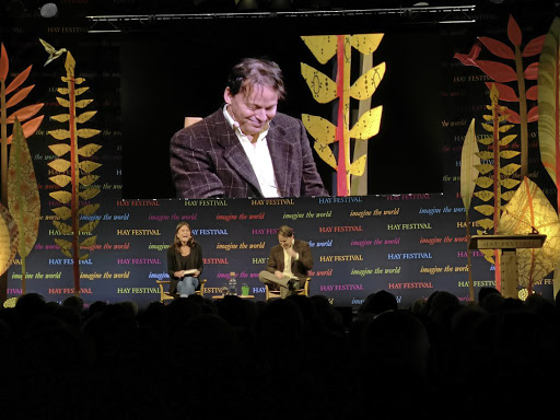Case in point: David Graeber, best-selling author of the book Debt: The First 5000 Years and a new work, Bulls**t Jobs, speaks at the Hay Festival in Wales in June. He highlighted research that showed that a large number of Britons believe the work they do is meaningless. Picture: HANS PIENAAR