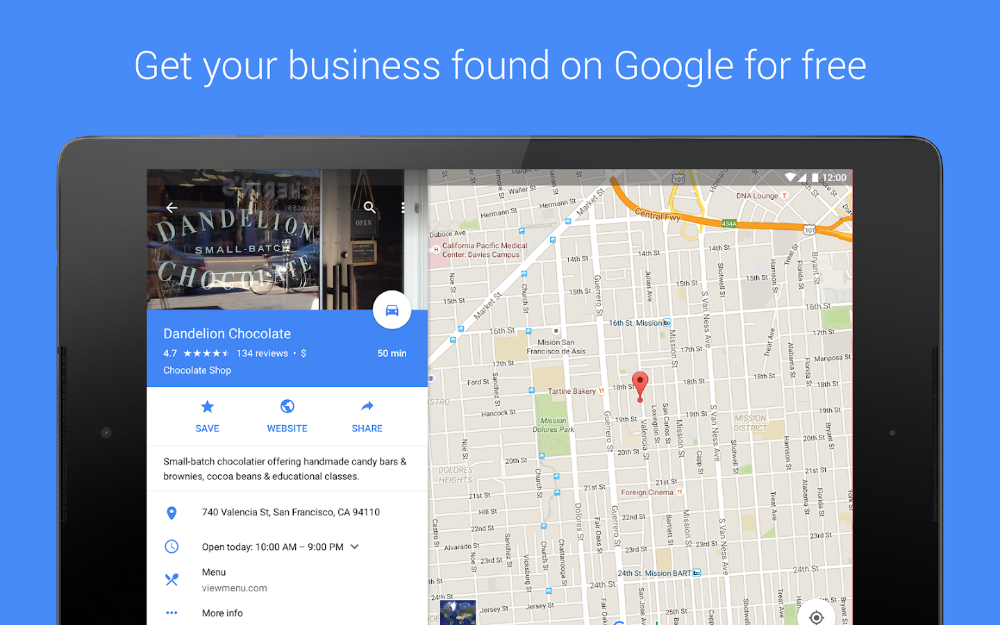‪Google My Business‬‏- لقطة شاشة