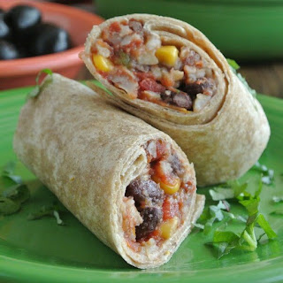 Slow Cooker Black Bean Burritos.