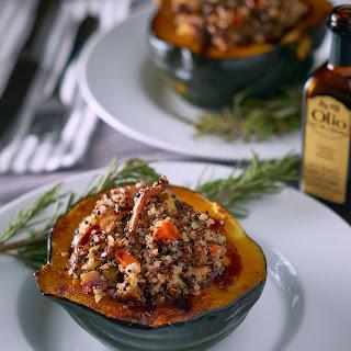 Quinoa and Mushroom Stuffed Acorn Squash Recipe