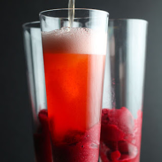 Sparkling Hard Cider Cranberry Cocktail