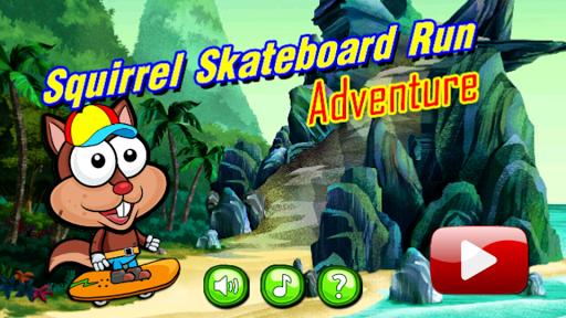 Squirrel Skateboard Run