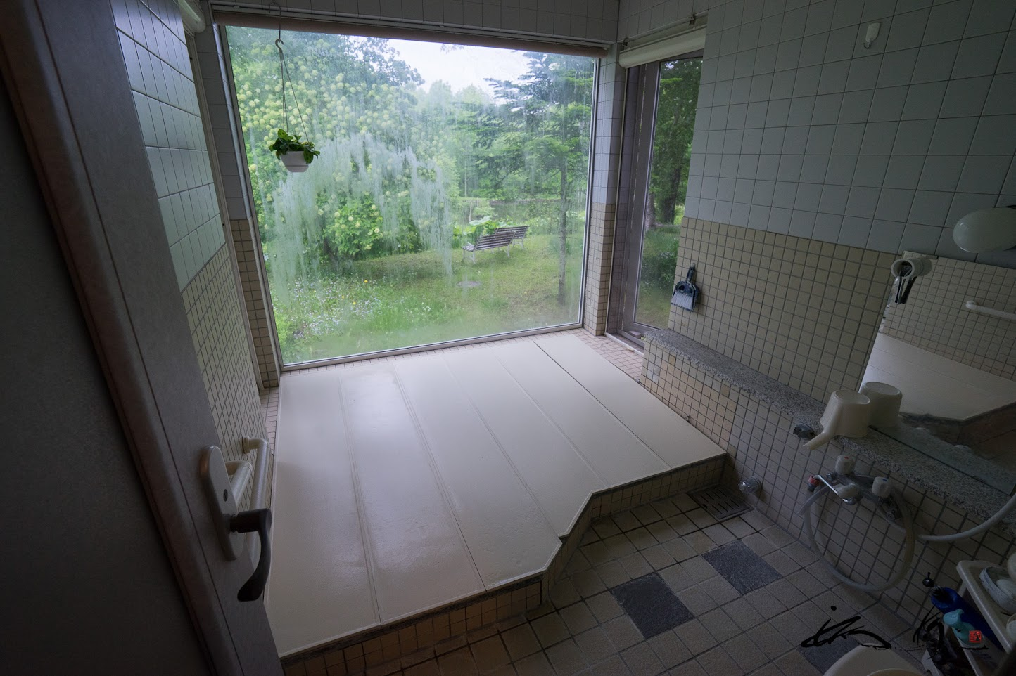 温泉付きバスルーム