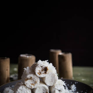 Indonesian Putu Bambu (Steamed Rice Cake in Bamboo).