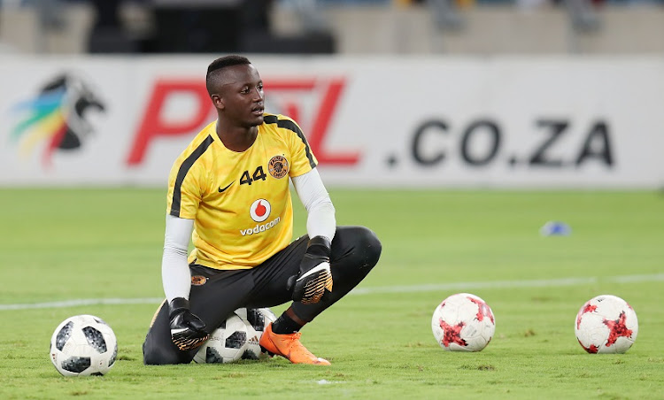 Bruce Bvuma of Kaizer Chiefs during the 2018 Nedbank Cup match between Kaizer Chiefs and Free State Stars at Moses Mabhida Stadium, Durban on 21 April 2018.