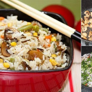 Incredibly Delicious Rice With Vegetables And Mushrooms