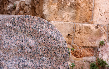 Photo: Granite from Egypt and local limestone