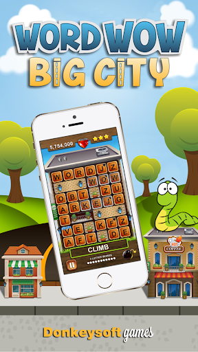 Word Wow Big City: Help a Worm Screenshot