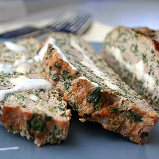Feta-Stuffed Turkey Meatloaf with Tzatziki Sauce.