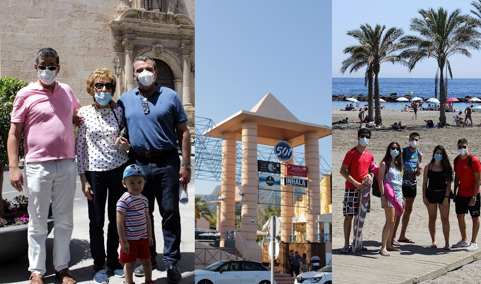 La vida de la ciudad, zonas de ocio y las playas en Almería y Aguadulce.