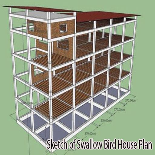 Sketch of Swallow Bird House Plan 2.0 screenshots 1