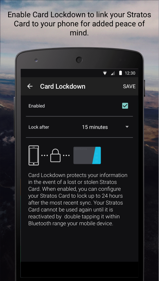 Stratos Card- screenshot