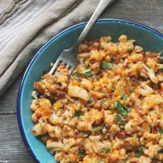 Chorizo & Green Chili Cauliflower Mac & Cheese – Low Carb and Gluten Free