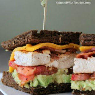 Avocado Chicken Club Sandwich.