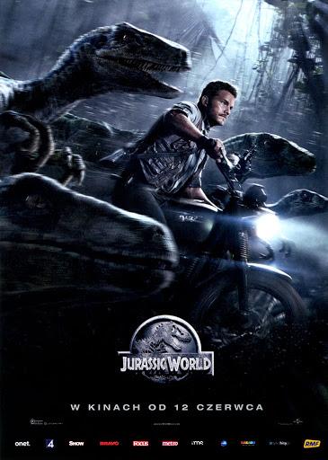 Przód ulotki filmu 'Jurassic World'
