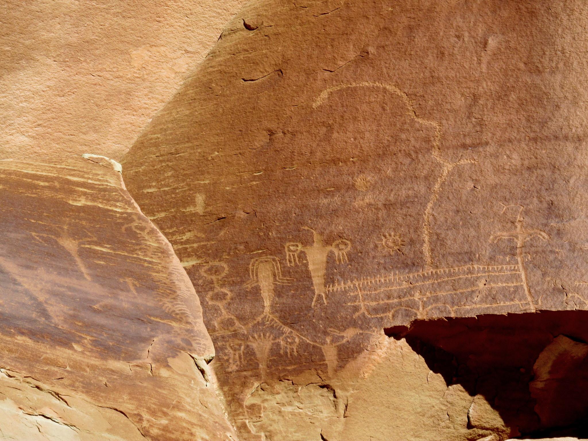 Photo: Interesting Fremont petroglyphs