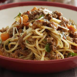 Spaghetti Bolognese.