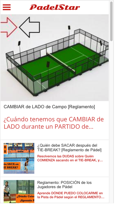 PadelStar, Official Magazine- screenshot