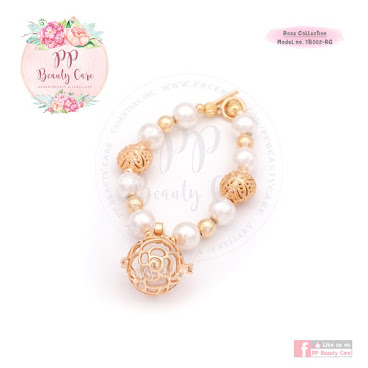 7B002-RG_Rose Collection: 24k Gold essential oil bracelet diffuser 玫瑰系列: 24k金精油手鏈