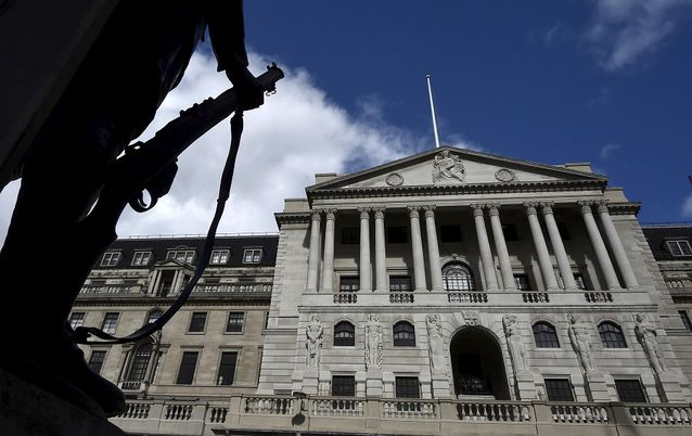The Bank of England in the City of London, the UK. Picture: REUTERS/TOBY MELVILLE
