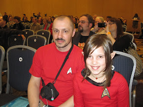 Photo: Father & Daughter red-shirts!