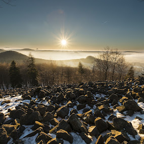 Sunrise on New Year's Eve by Petr Musil - Landscapes Sunsets & Sunrises