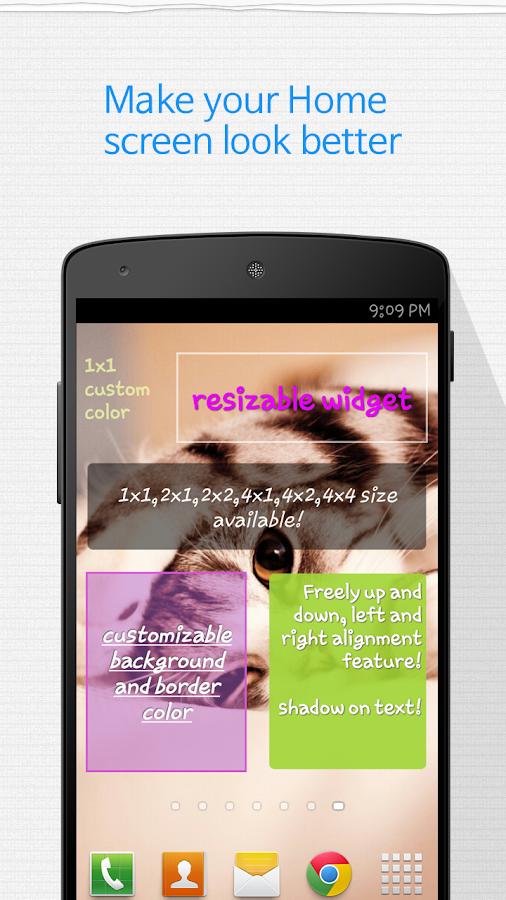Memo Widget (Note Widget)- screenshot