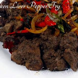 Chicken Liver Pepper Fry.