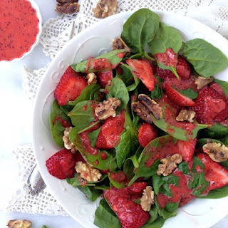 Strawberry Spinach Salad with Poppyseed Dressing.