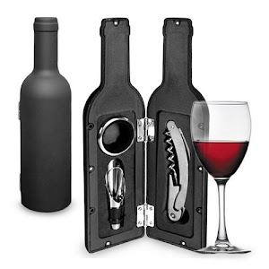 Set elegant de vin cu 3 accesorii