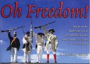 Photo: Exhibit post card (front). Models are reenactors belonging to the 1st Rhode Island Regiment.