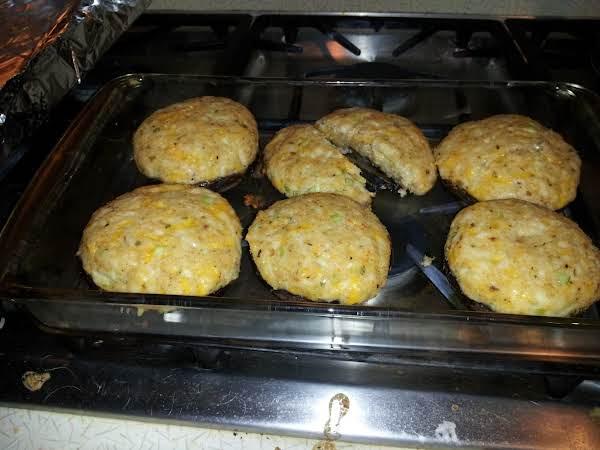 Cheesy Crab Dressing Stuffed Mushrooms Recipe