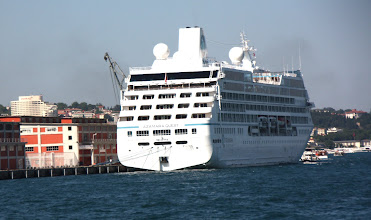 Photo: Day 104 - A Huge Cruise Ship  (from Malta),  Dwarfing the Quayside!