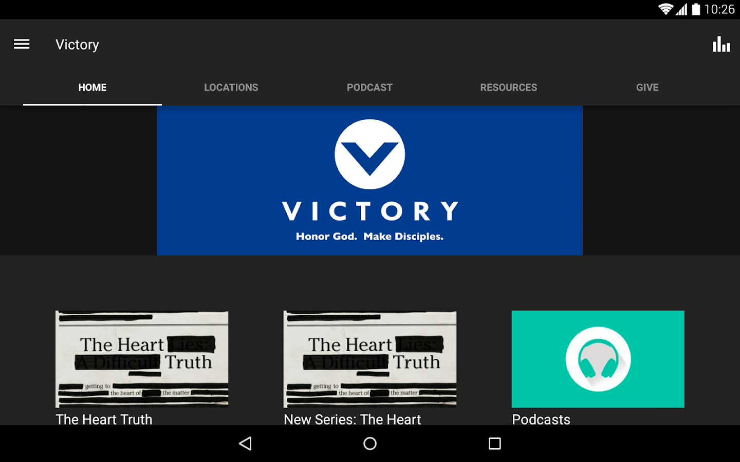 The Victory App- screenshot