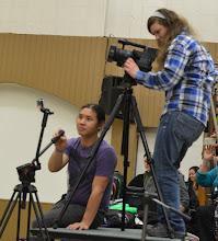 Photo: filming crew