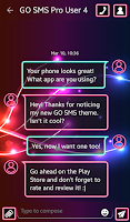 Screenshot of GO SMS Neon Colors