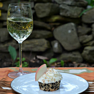 Brown Butter Grilled Peach Cupcakes with Riesling Frosting