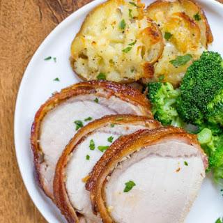 Slow Cooker Bacon Garlic Pork Loin #Recipe