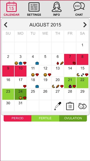 7 Ovulation & Period Calendar App screenshot