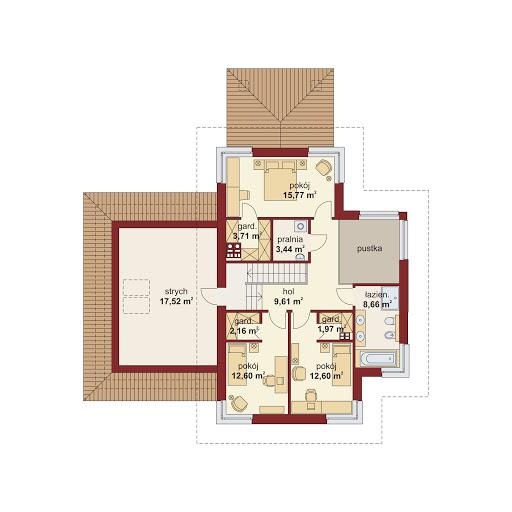 Domena 301 B - Rzut piętra