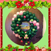 Photo: pink & green wreath