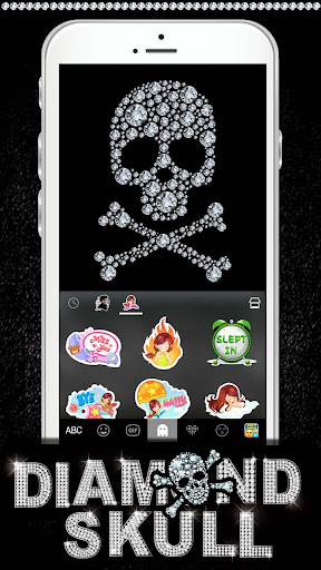 玩免費個人化APP|下載Diamond Skull Kika Keyboard app不用錢|硬是要APP