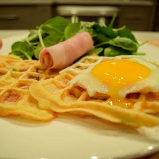 Ham and Cheese Waffles.
